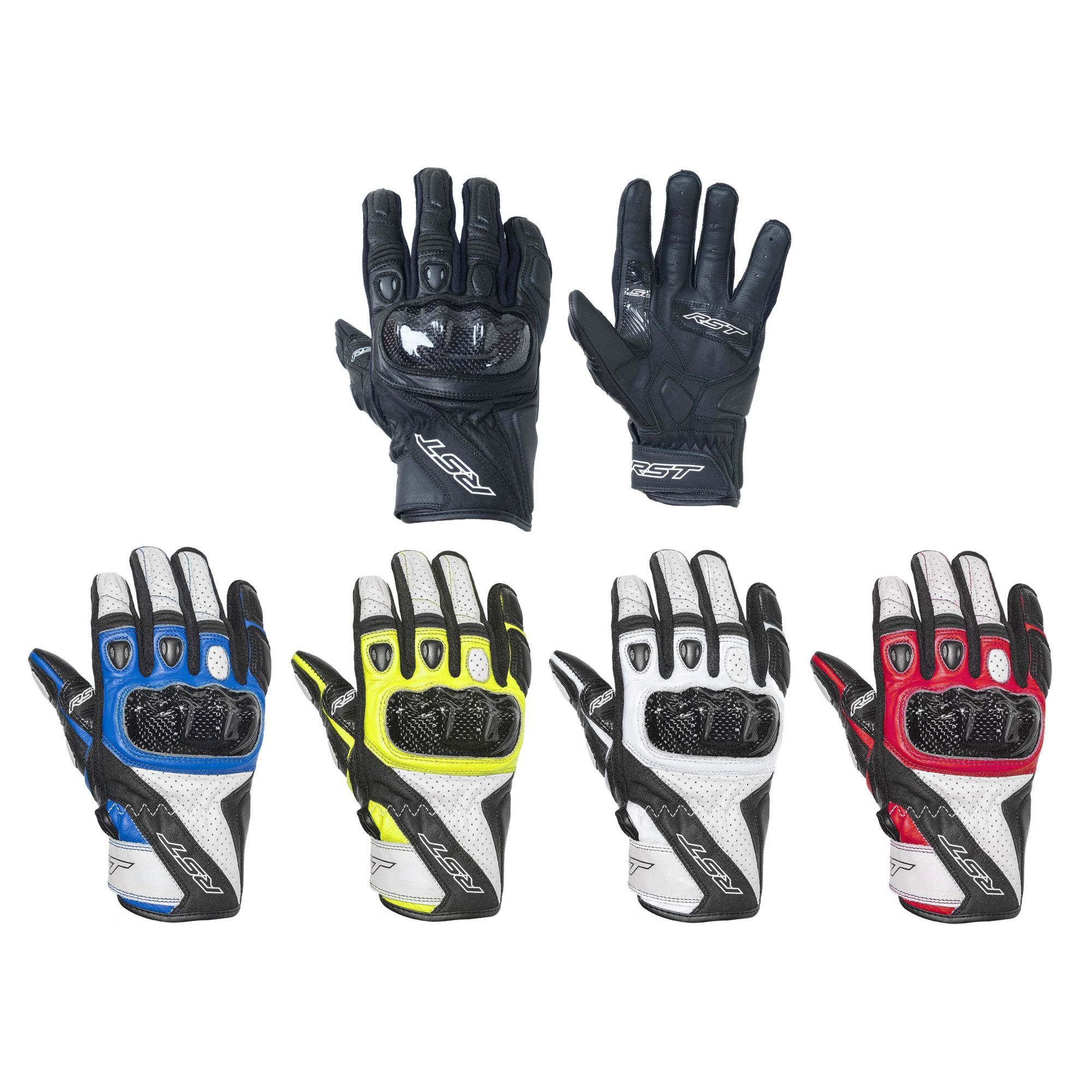 RST 2128 Delta 3 CE Motorcycle Motorbike Double Leather Armoured Gloves Black