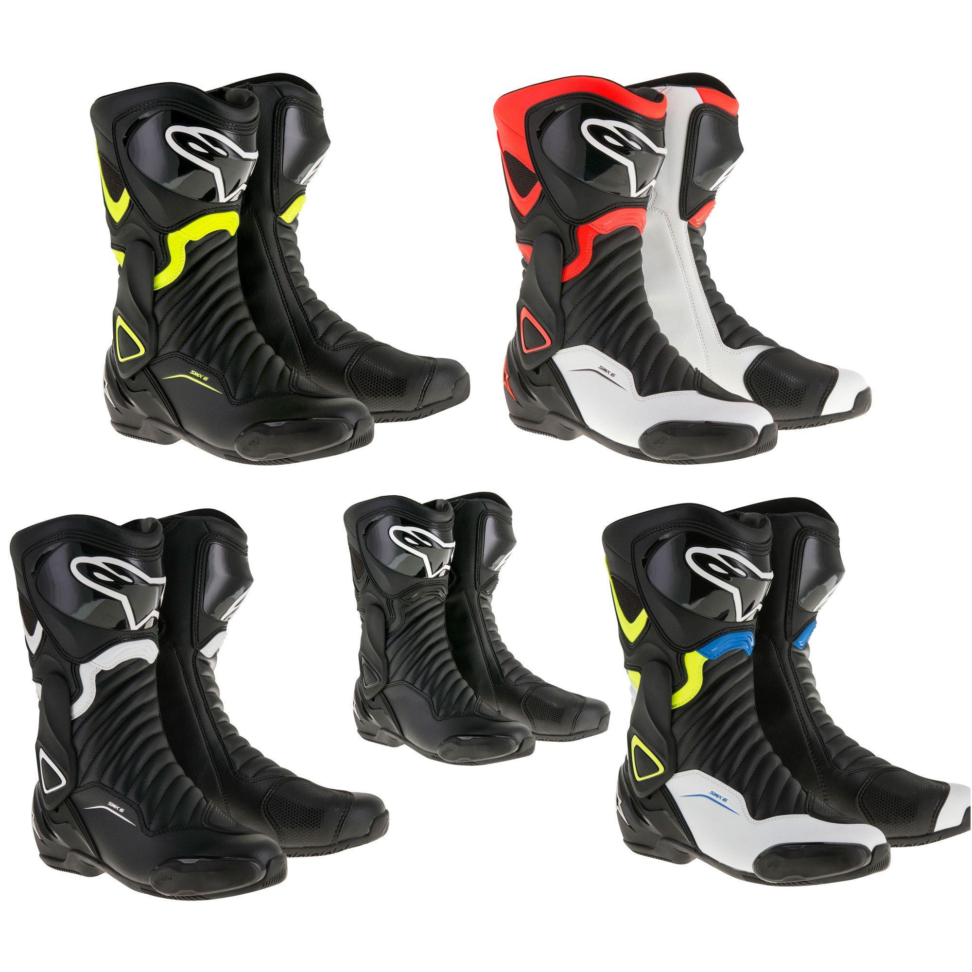 Details about Alpinestars SMX 6 V2 Road MotorcycleBikeMotorbikeBiking Riding Boots