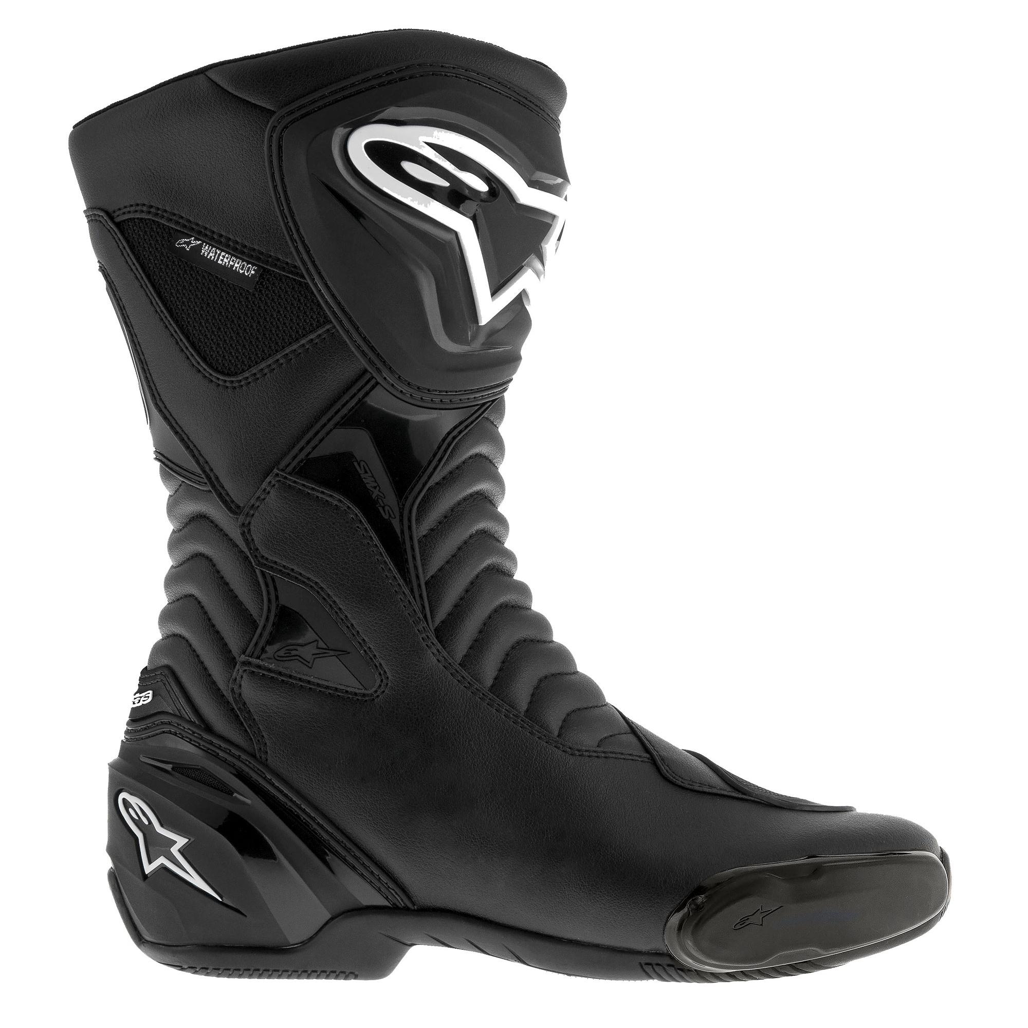 467e7a17dec Details about Alpinestars SMX S Waterproof Motorcycle/Bike/Motorbike Riding  Boots - Black