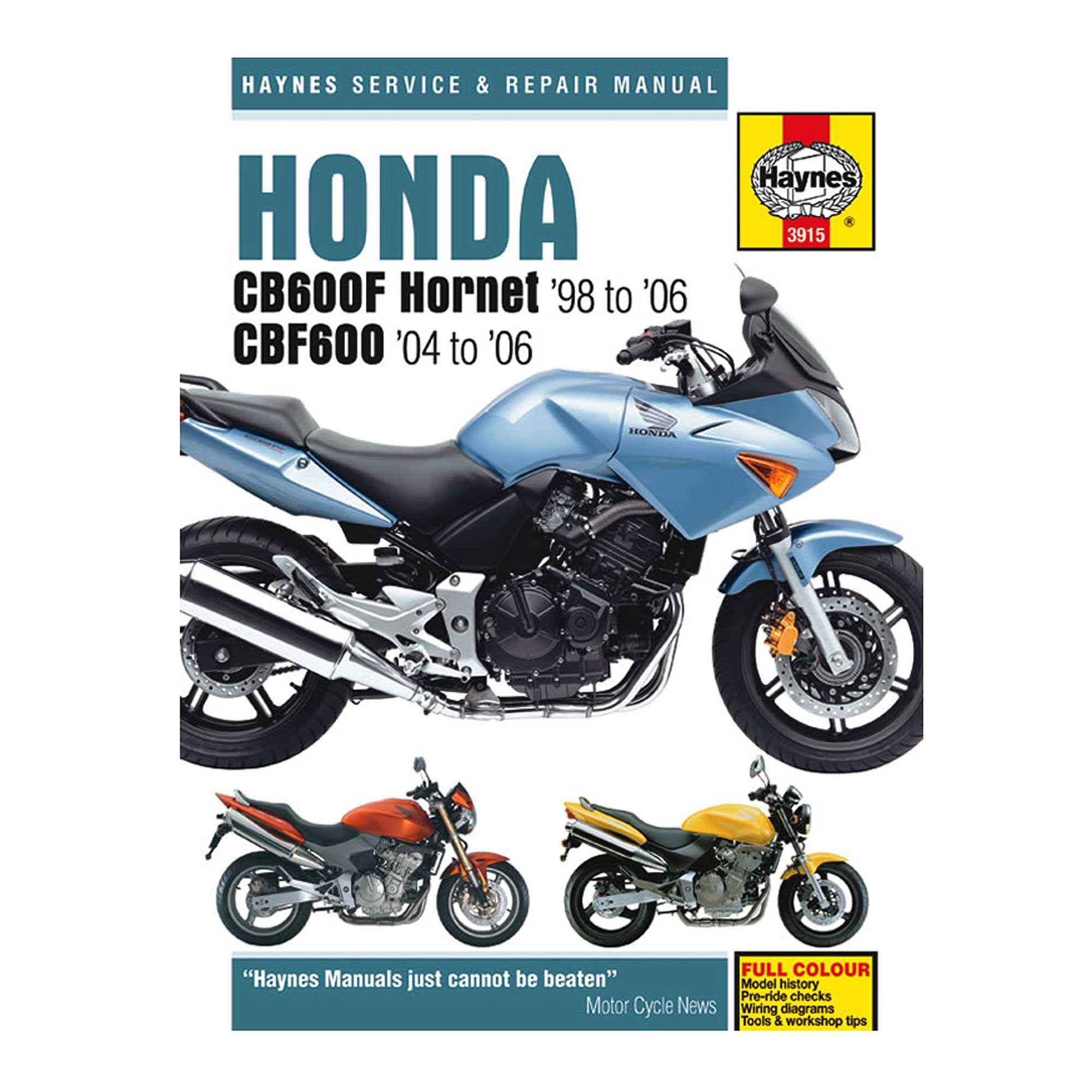 Honda Cb600 F Hornet Cbf600 Haynes Workshop Manual Service