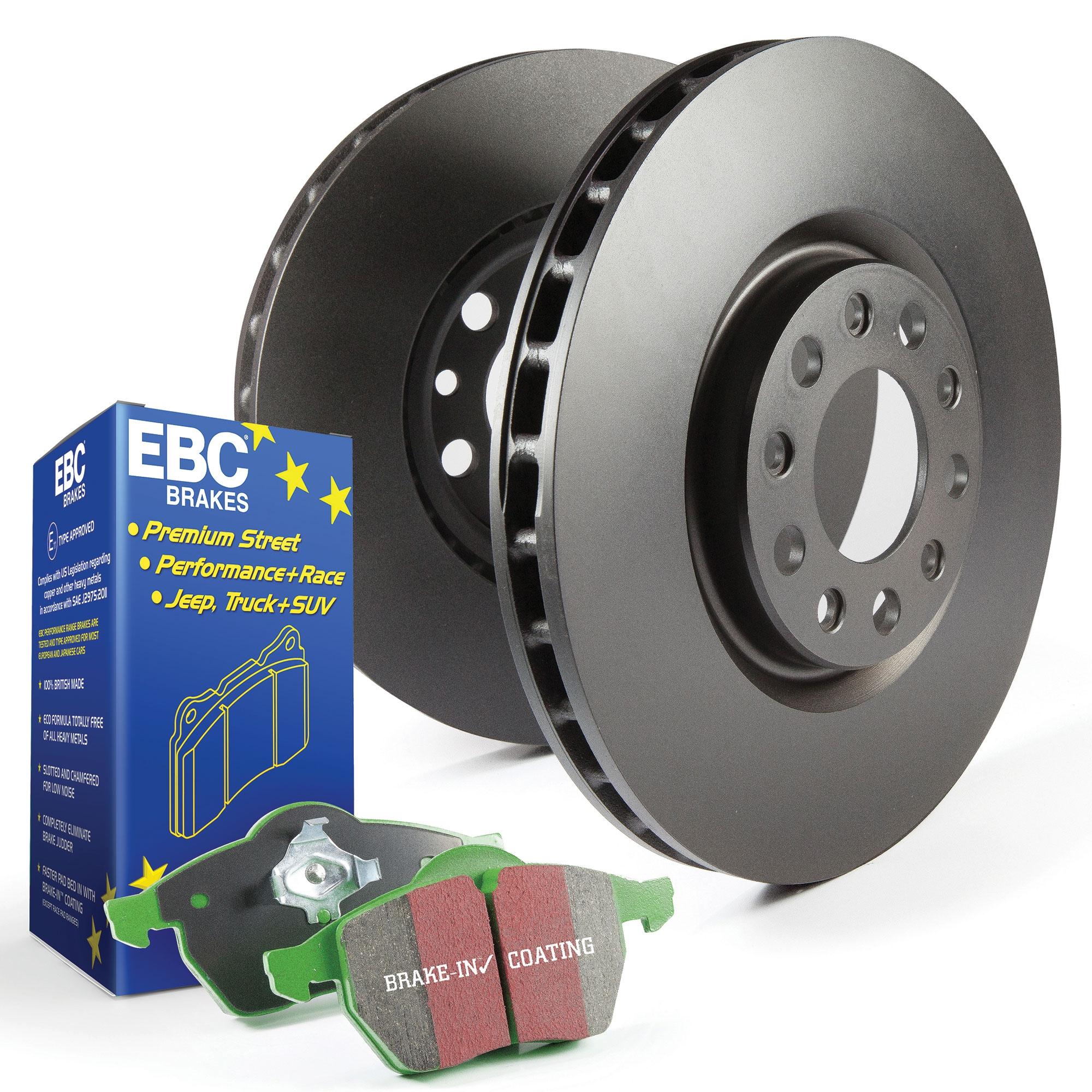 EBC Rear Brake Discs and Greenstuff Pads Kit For Mazda Mx5 Mk2 NB 1.6 / 1.8 16v