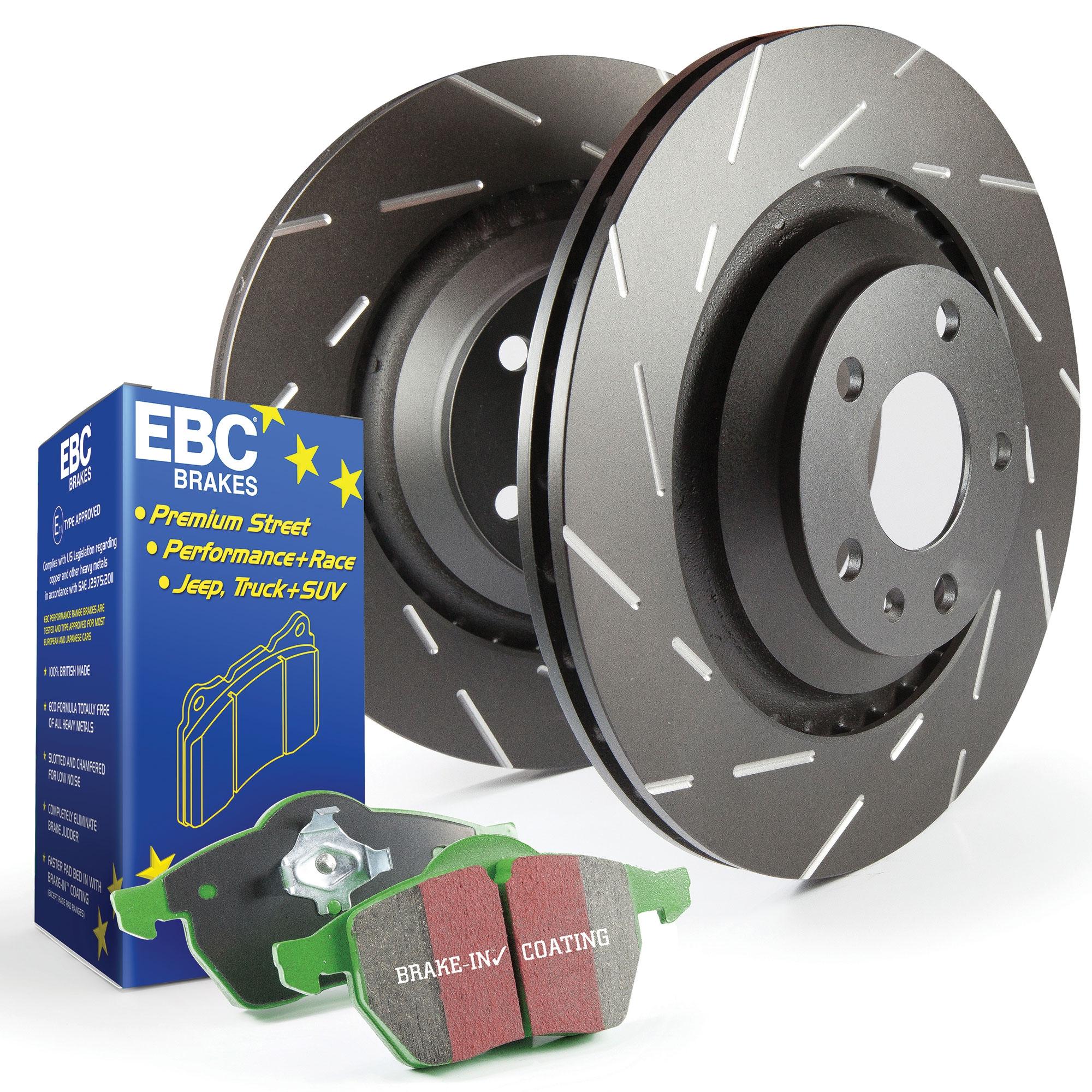 EBC Delantero USR Ranurado Discos De Freno Y Almohadillas Greenstuff Kit-PD06KF302