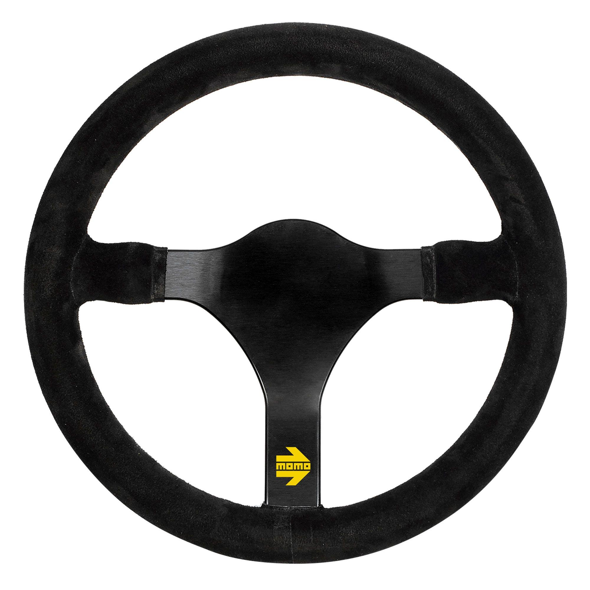 Details about Momo Model 31 3 Spoke Race / Racing Steering Wheel Black  Suede - 320mm