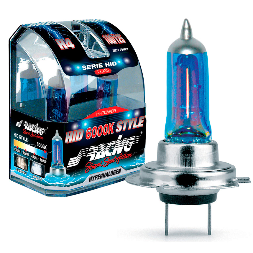 HID Style Headlamp Bulbs 6000K Colour